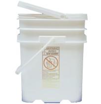 5.3 Gallon Flip Top White-Pail w/lid