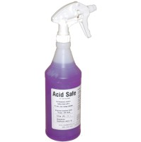 Battery Wash Acid Neutralizing, Indicating and Cleaning Spray - ACIDSAFE (32 Ounce Spray Bottle)