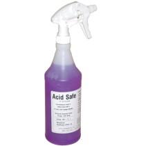 Battery Wash Acid Neutralizing, Indicating and Cleaning Spray - ACIDSAFE (32 Ounce Spray Bottle)