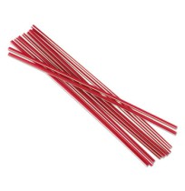 "STRAWS - Unwrapped Cocktail Straws, 7 3.4"", Plastic, RedBoardwalk  10x500 Unwrapped Cocktail Straws"