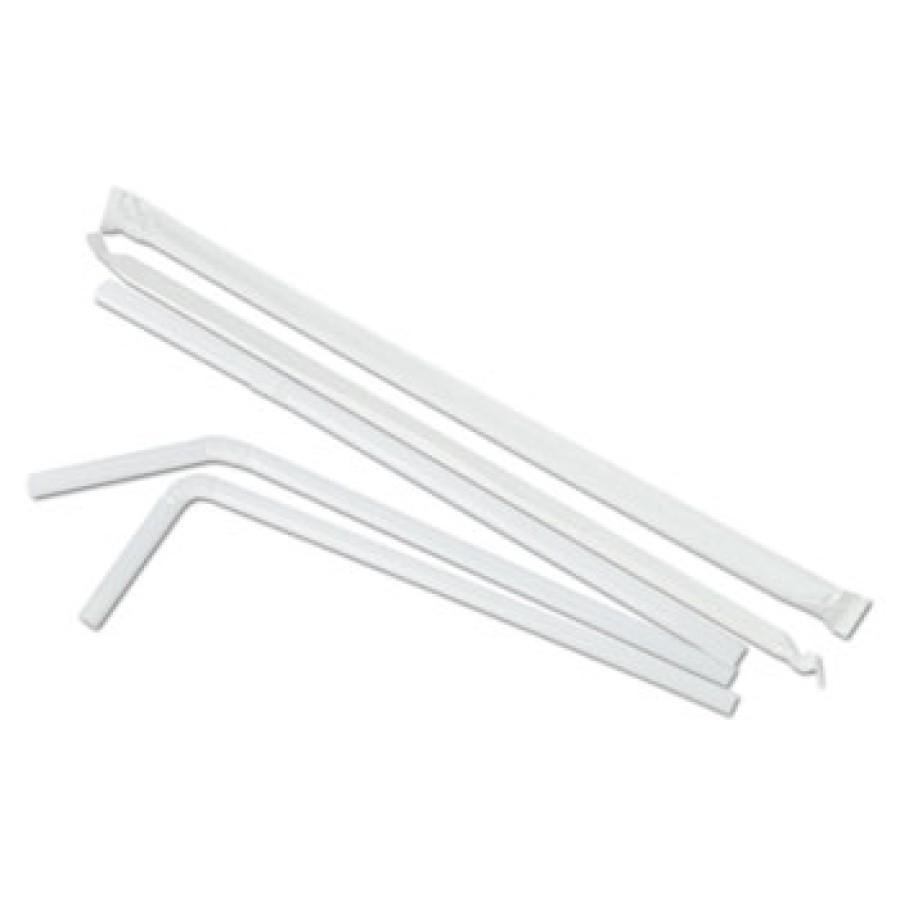 "STRAWS STRAWS - Jumbo Straws, 7 5/8"", Plastic, White FlexBoardwalk  Jumbo StrawsC-7.625""WRPD FLEX JM"