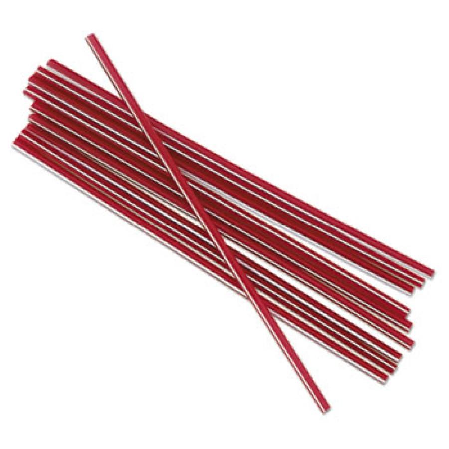 """STRAWS STRAWS - Unwrapped Stir-Straws, 5 1/4"""", Polypropylene, Red, 1000/BoxBoardwalk  Unwrapped Stir"""