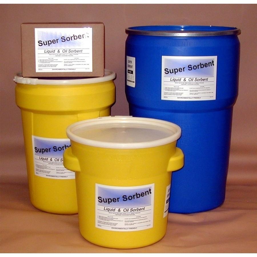 Granular Absorbent - Super Sorbent - 18 lbs - Flip Top Pail