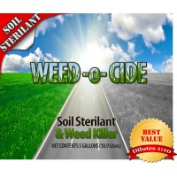 Weed O Cide - Soil Sterilant and Weed Killer (5 Gallon) - Concentrate - Dilutes 1:10