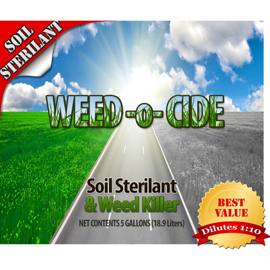 Weed O Cide - Soil Sterilant and Weed Killer (Gallon Concentrate 1:10)(Multiple Size/Packaging Options)
