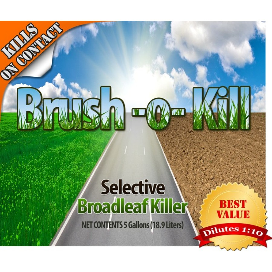 Broadleaf Weed, Brush and Stump Killer - Brush O Kill (Concentrate 1:10)(Multiple Size/Packaging Options)