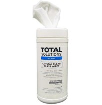Glass Cleaner - Crystal Clear Glass Wipes (6 Cans per Case)