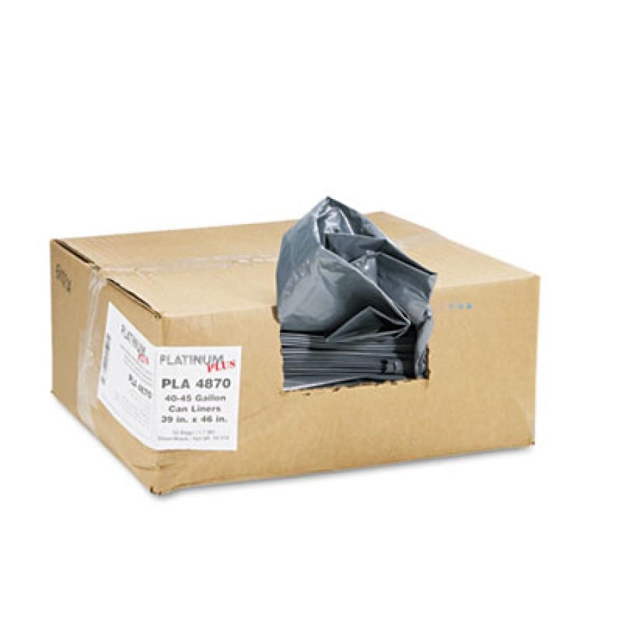 GARBAGE BAG GARBAGE BAG - Can Liner, Super Hexene Resin 40-45 gal, 1.55 mil, 39 x 46, 50/CartonPlati