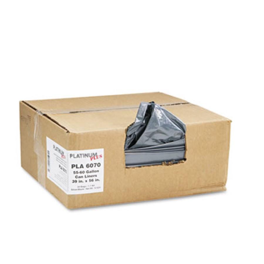 GARBAGE BAG GARBAGE BAG - Can Liner, Super Hexene Resin 55-60 gal, 1.55 mil, 39 x 56, 50/CartonPlati