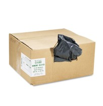 GARBAGE BAG GARBAGE BAG - Recycled Can Liners, 7-10 gal, 0.85 mil, 24 x 23, Black, 500/CartonEarthse