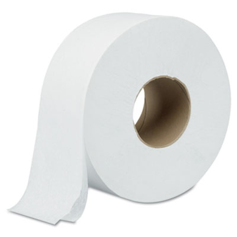 "TOILET PAPER TOILET PAPER - Green Heritage Jumbo Roll Bathroom Tissue, 2-Ply, 9"" dia, WhiteAtlas Pap"