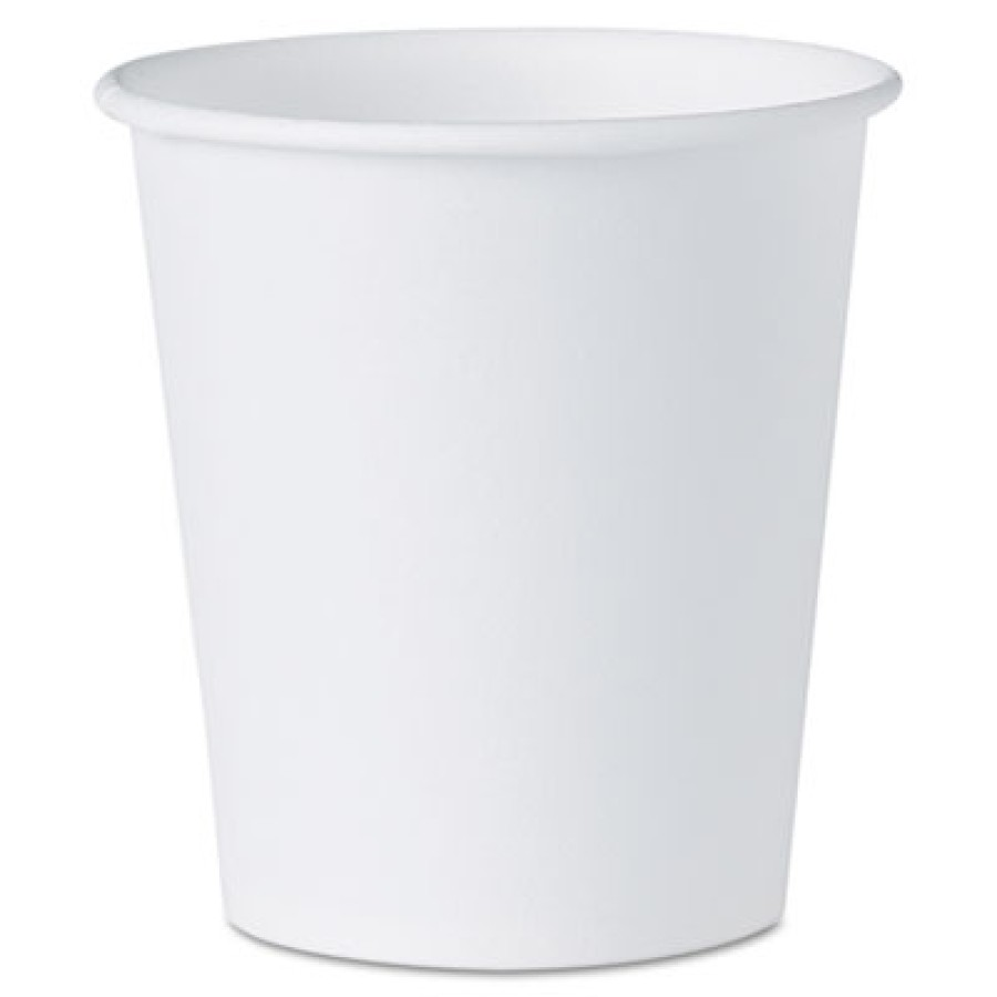 PAPER CUPS PAPER CUPS - White Paper Water Cups, 3 ozWhite paper water cups.FLT BTM PPR WTR CUP 3OZ