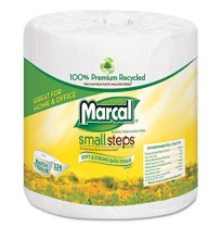 TOILET PAPER TOILET PAPER - 100% Premium Recycled 2-Ply Embossed Toilet TissueMarcal  Small Steps  1