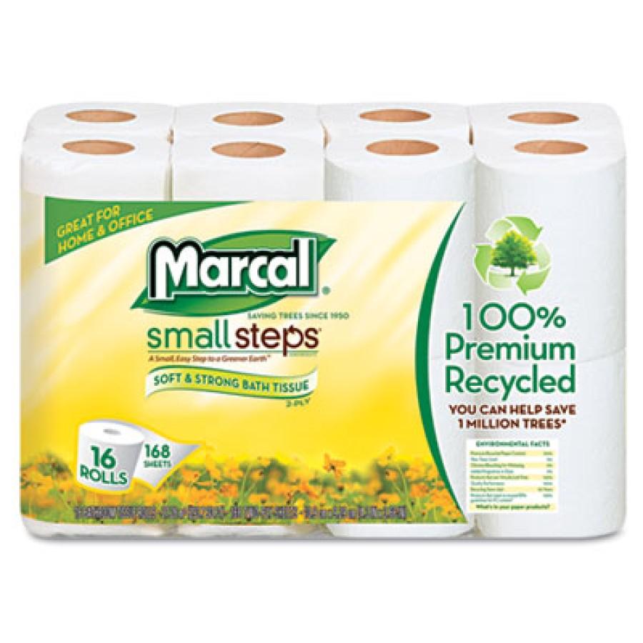 TOILET PAPER TOILET PAPER - 100% Premium Recycled 2-Ply Toilet TissueWhite septic safe bathroom tiss