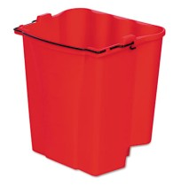 MOP BUCKET MOP BUCKET - Dirty Water Bucket for Wavebrake Bucket/Wringer, 18-Quart, RedRubbermaid  Co