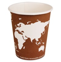 PAPER CUP | PAPER CUP | 1000/CS - C-PPR HOT CUP 10OZ BIOD  WORLD ART 1