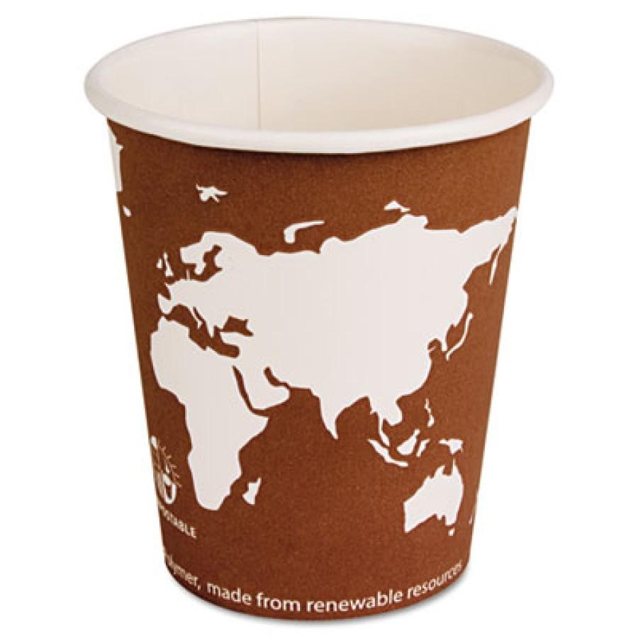 PAPER CUP | PAPER CUP | 1000/CS - C-PPR HOT CUP 10OZ BIOD  WORLD ART 1