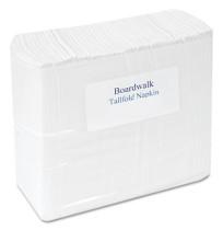 "Napkin Napkin - Boardwalk  Tall Fold Dispenser NapkinsNPKNS,T-FOLD DISP,WHTall Fold Napkins, 7"" x 12"