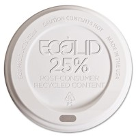 HOT CUP LIDS HOT CUP LIDS - Eco-Lid 25% Recycled Content Hot Cup Lid, Fits 8 oz CupsEco-Products  Ec