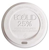 HOT CUP LIDS HOT CUP LIDS - Eco-Lid 25% Recycled Content Hot Cup Lid, Fits 8 oz CupsEco-Products  Ec
