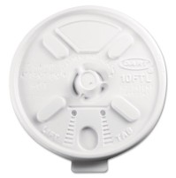 FOAM CUP LIDS FOAM CUP LIDS - Lift N' Lock Plastic Hot Cup Lids, Fits 10-oz. Cups, WhitePlastic Lift