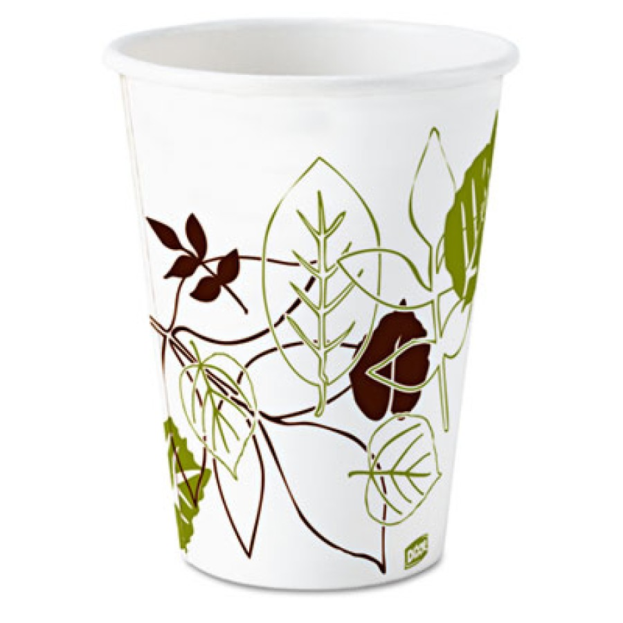 PAPER CUPS PAPER CUPS - Pathways Paper Hot Cups, 8 ozDixie  Pathways  Paper Hot CupsC-WISE SZ PPR HO