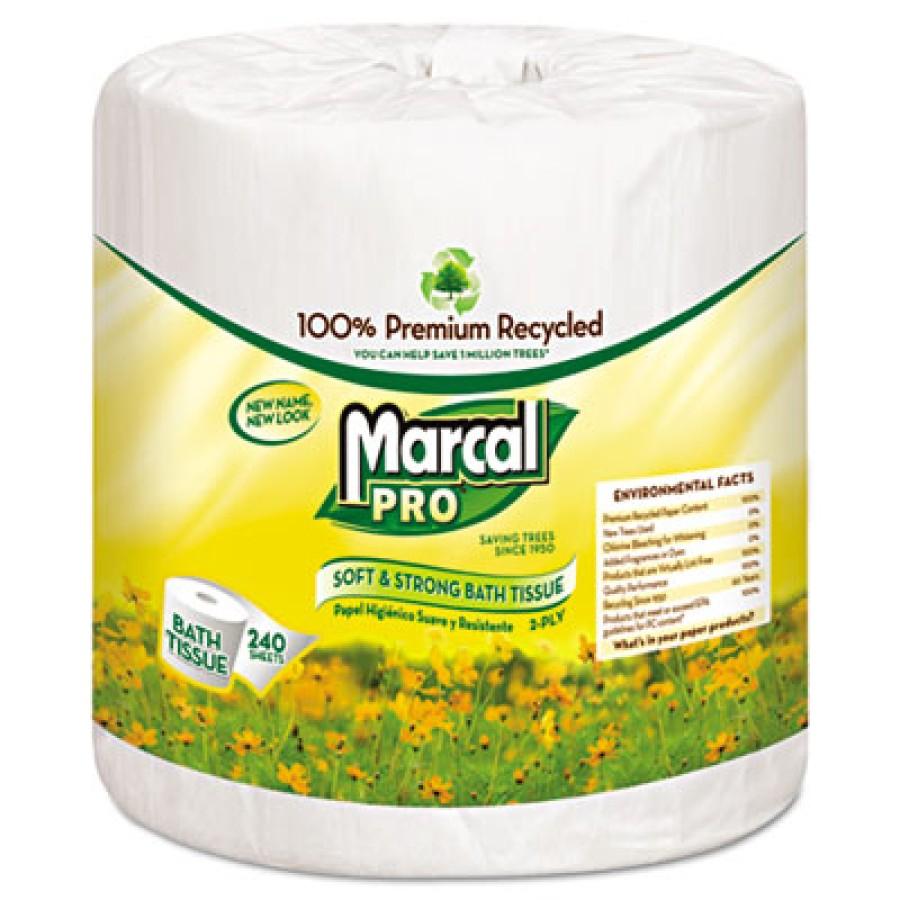 TOILET PAPER TOILET PAPER - 100% Premium Recycled Bathroom TissueMarcal PRO  Premium Recycled Bathro