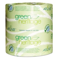 TOILET PAPER TOILET PAPER - Green Heritage Bathroom Tissue, 1-Ply Sheets, WhiteAtlas Paper Mills Gre