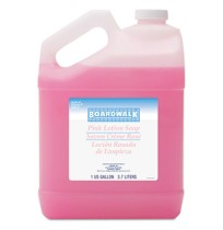 HAND SOAP HAND SOAP - Mild Cleansing Pink Lotion Soap, Pleasant Scent, Liquid, 1 gal BottleBoardwalk