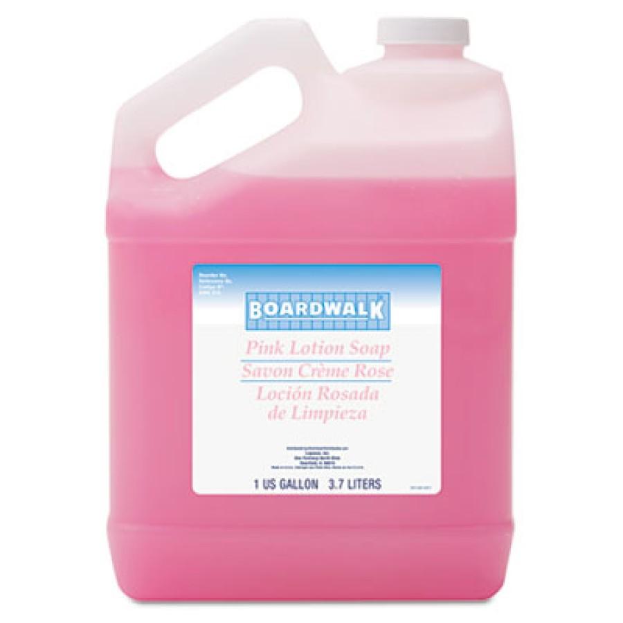 HAND SOAP HAND SOAP - Mild Cleansing Pink Lotion Soap, Pleasant Scent, Liquid, 1 gal BottleBoardwalk