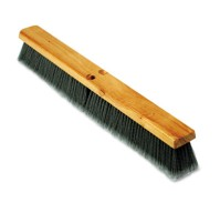 "PUSH BROOM PUSH BROOM - Floor Brush Head, 3"" Gray Flagged Polypropylene, 24""Boardwalk  Floor Brush H"