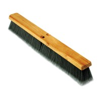"PUSH BROOM PUSH BROOM - Floor Brush Head, 3"" Gray Flagged Polypropylene, 24""Boardwalk  Floor Brush H"