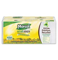 Napkin Napkin - Marcal  Small Steps  100% Premium Recycled Luncheon NapkinsNAPKINS,LUNCH,400/PKLunch