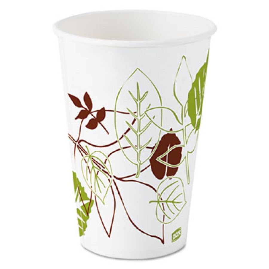 PAPER CUPS PAPER CUPS - Pathways Polycoated Paper Cold Cups, 16 ozDixie  Pathways  Polycoated Paper