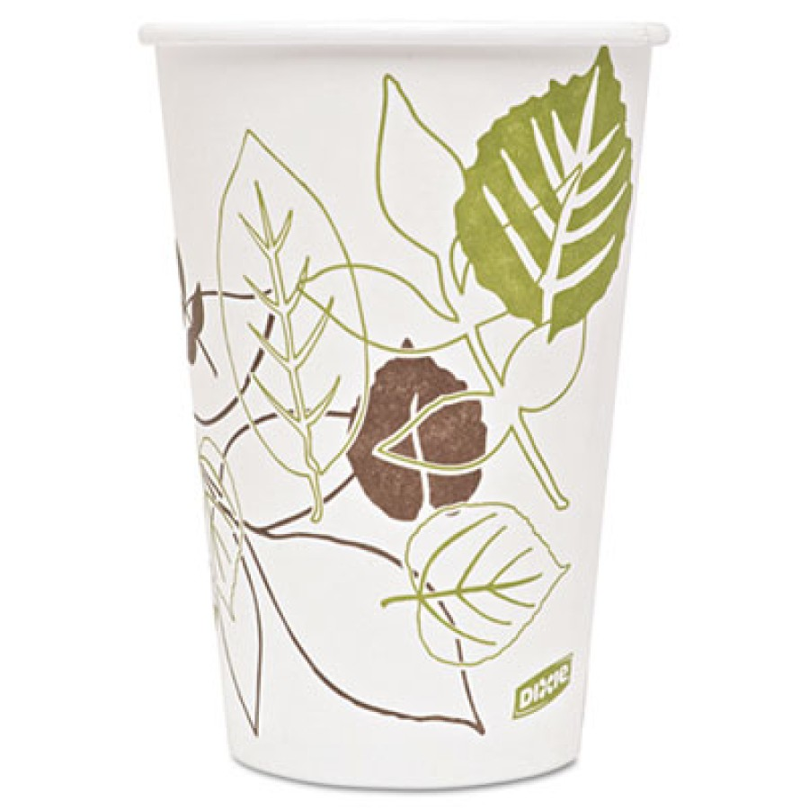 PAPER CUPS PAPER CUPS - Pathways Paper Hot Cups, 16 ozPolylined paper hot cups.PPR HOT CUP 16OZ PATH