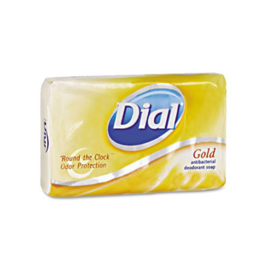 BAR SOAP BAR SOAP - Antibacterial Deodorant Bar Soap, Individually Wrapped, Gold, 4 oz.Dial  Deodora