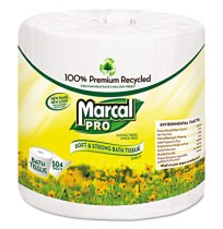 TOILET PAPER TOILET PAPER - Premium 100% Recycled Bath Tissue, 2-Ply,White, 4.3 x 3.66, 504/RollMarc