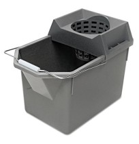 MOP BUCKET MOP BUCKET - Pail/Strainer Combinations, 15 qt, Steel GrayRubbermaid  Commercial Pail/Str
