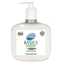 HAND SOAP HAND SOAP - Basics Hypoallergenic Liquid Soap, White Pearl, Honeysuckle, 16 oz PumpDial  B