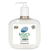 HAND SOAP HAND SOAP - Basics Hypoallergenic Liquid Soap, White Pearl, Honeysuckle, 16 oz PumpDial  B