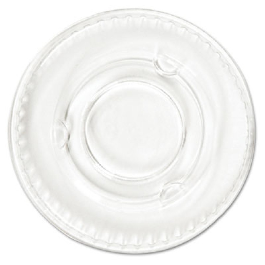SOUFFLE CUP LIDS SOUFFLE CUP LIDS - Portion Cup Lids, Fits .5-1oz Cups, ClearBoardwalk  Crystal-Clea