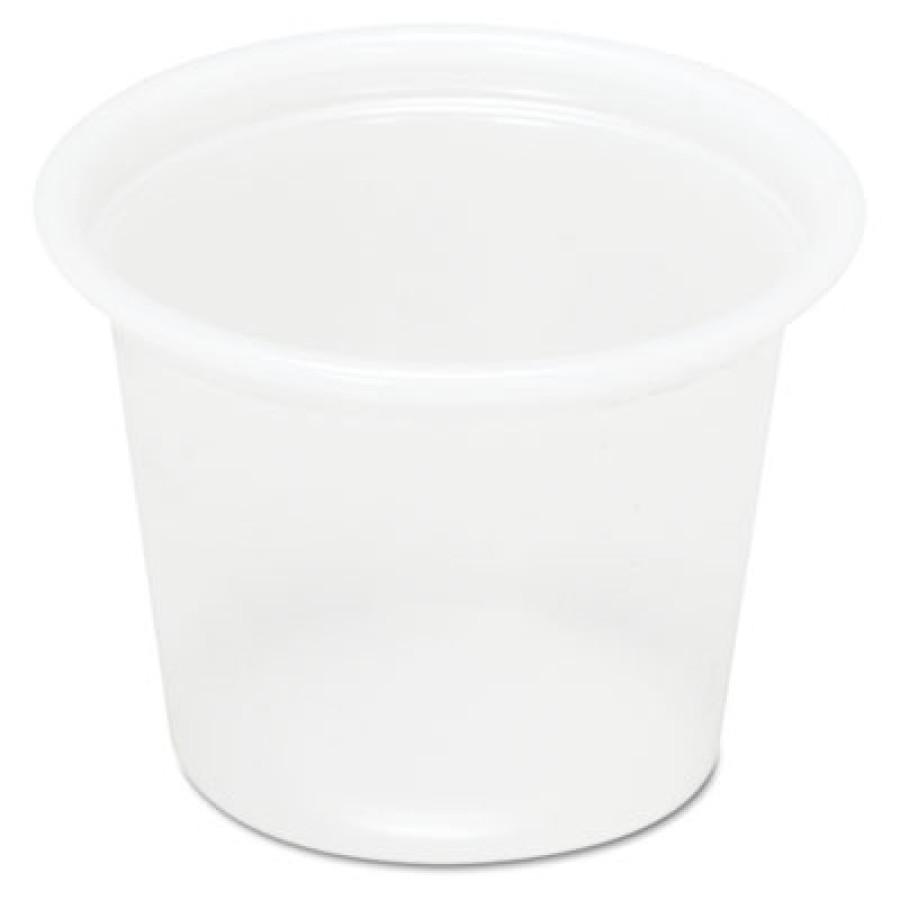 SOUFFLE CUPS SOUFFLE CUPS - Plastic Souffl  Cups, 1 oz., Translucent, 200/BagBoardwalk  Plastic Souf