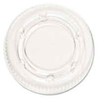 SOUFFLE CUP LIDS SOUFFLE CUP LIDS - Portion Cup Lids, Fits 1.5-2.5oz Cups, ClearBoardwalk  Crystal-C