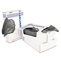 GARBAGE BAGS GARBAGE BAGS - Heavy-Grade Can Liners, 30 x 36, 30-Gallon, .55 Mil, Black, 25/RollBoard