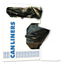 GARBAGE BAGS GARBAGE BAGS - Low-Density Can Liners, 10gal, .4mil, 24w x 23h, Black, 25/RollBoardwalk