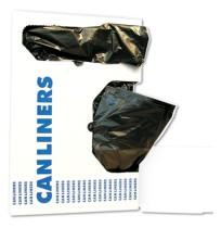 GARBAGE BAGS GARBAGE BAGS - Low-Density Can Liners, 10gal, .4mil, 24w x 23h, Black, 25/RollBoardwalk