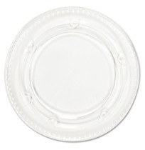 SOUFFLE CUP LIDS SOUFFLE CUP LIDS - Portion Cup Lids, Fits 3.25-4oz Cups, ClearBoardwalk  Crystal-Cl