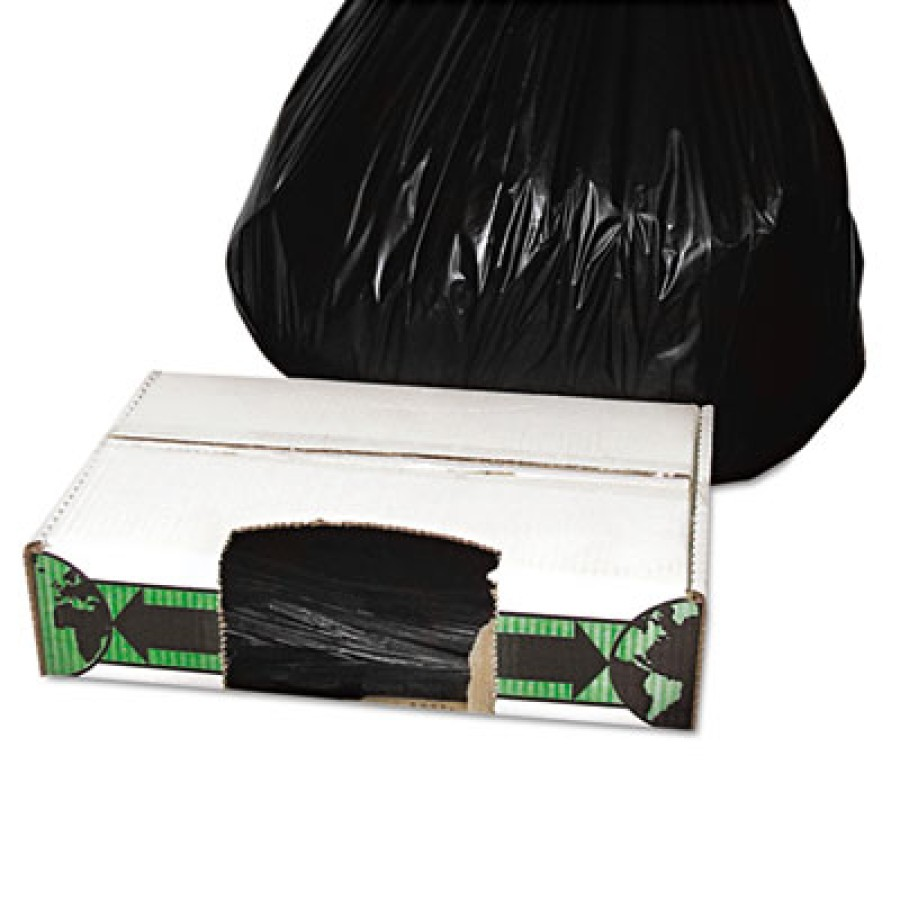 GARBAGE BAG GARBAGE BAG - Linear Low-Density Ecosac, 33 x 39, 33-Gallon, 1.5 Mil, Black, 150/CaseEss