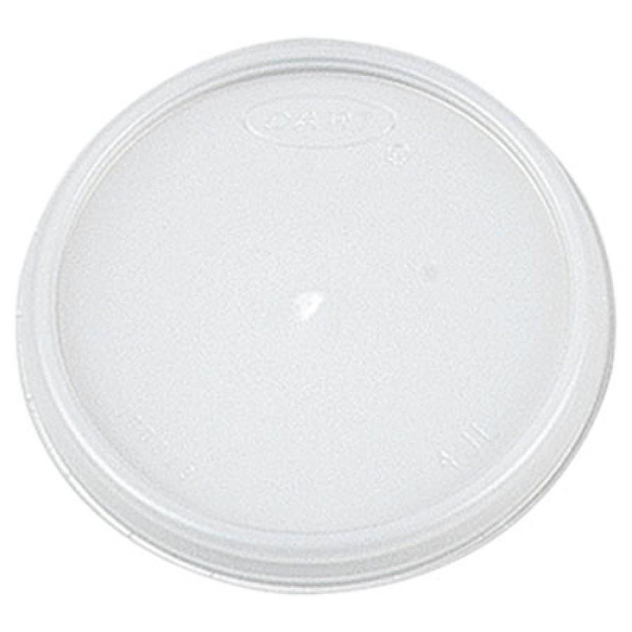 SOUP CUP LIDS SOUP CUP LIDS - Plastic Lids, Fits 4oz Cups, TranslucentDart  Plastic LidsC-VNTD FOAM
