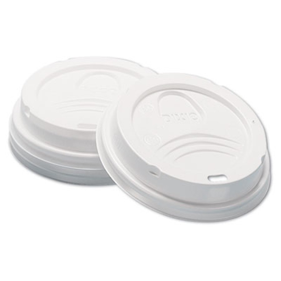 HOT CUP LIDS HOT CUP LIDS - Dome Hot Drink Lids, 8oz Cups, WhiteDixie  Sip-Through Dome Hot Drink Li